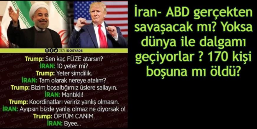 ABD – İRAN SAVAŞ GEYİKLERİ, ARTIK KİMSE CİDDİYE ALMIYOR))))