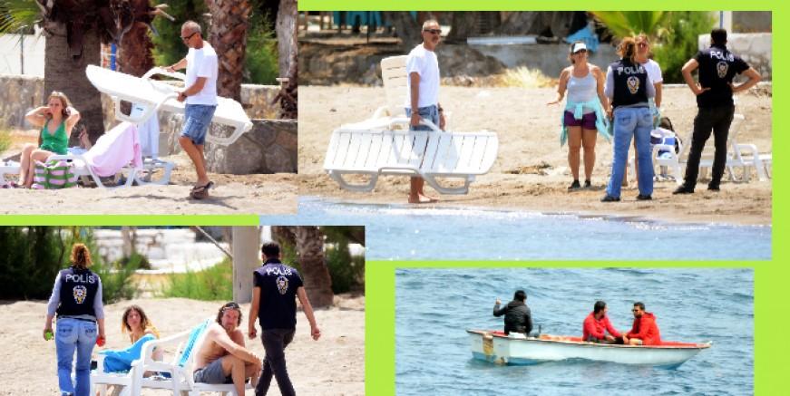Akın akın geldiler, plajı doldurdular, POLİS BOŞALTTI...