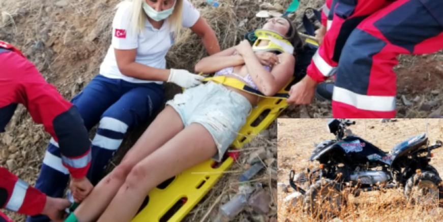 ATV ile uçuruma yuvarlanan İskoç  turistler ölümden döndü