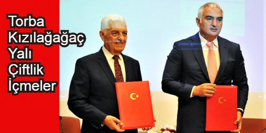 Bakan  Ersoy ve Gürün'den Bodruma müjdeli haber. Alt yapı protokolü imzalandı