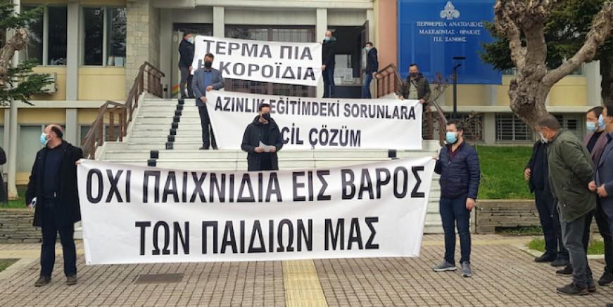 Batı Trakyalı Türkler Encümen seçimlerinin sürekli ertelenmesini protesto etti.