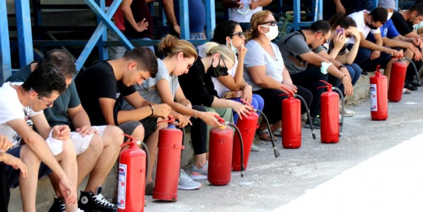 Belediye personeline temel yangın eğitimi verildi