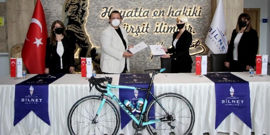 Bilnet okulları uluslar arası bisiklet yarışının ana sponsoru oldu