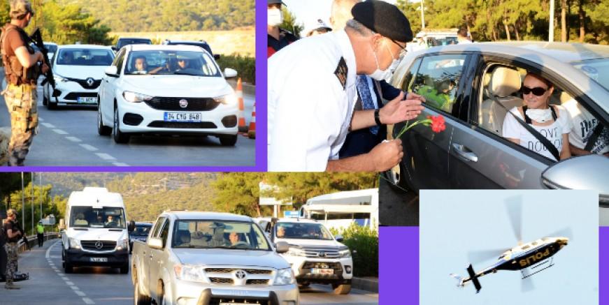 Bodrum'a giren araç sayısı bugün 40 bin, nüfus dörde katlandı