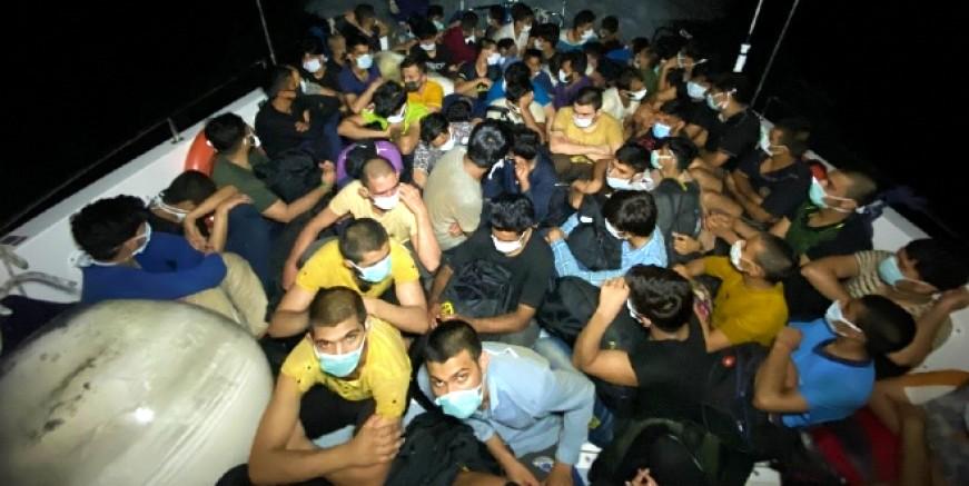 Bodrum'da 63 kaçak göçmen yakalandı