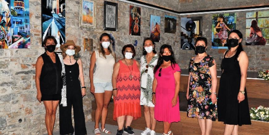 Bodrum'da 70 sanatçının 75 eseri sanatseverlerle buluştu
