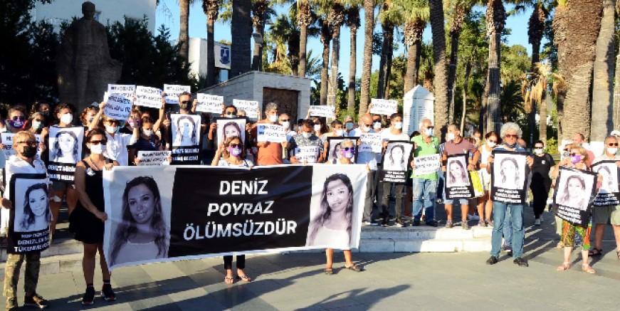 Bodrum'da Deniz Poyraz eylemi ve basın açıklaması