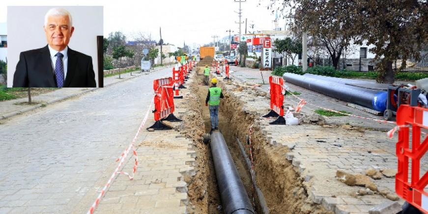 Bodrum'da kanalizasyonun dörtte biri tamamlandı