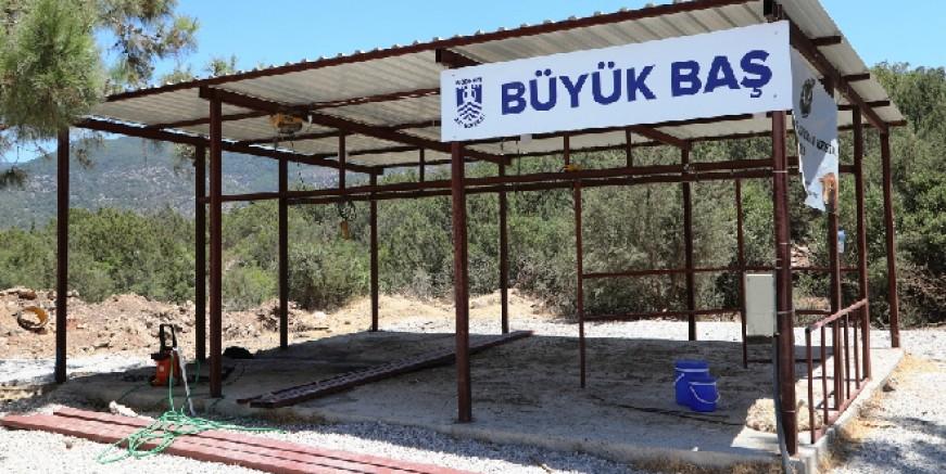Bodrum'da kurban kesim yerleri hazırlandı