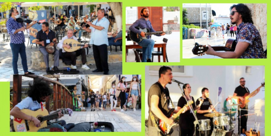 """Bodrum'da müzisyenler """"Sanat Sokakta Projesi"""" ile nefes alacak"""