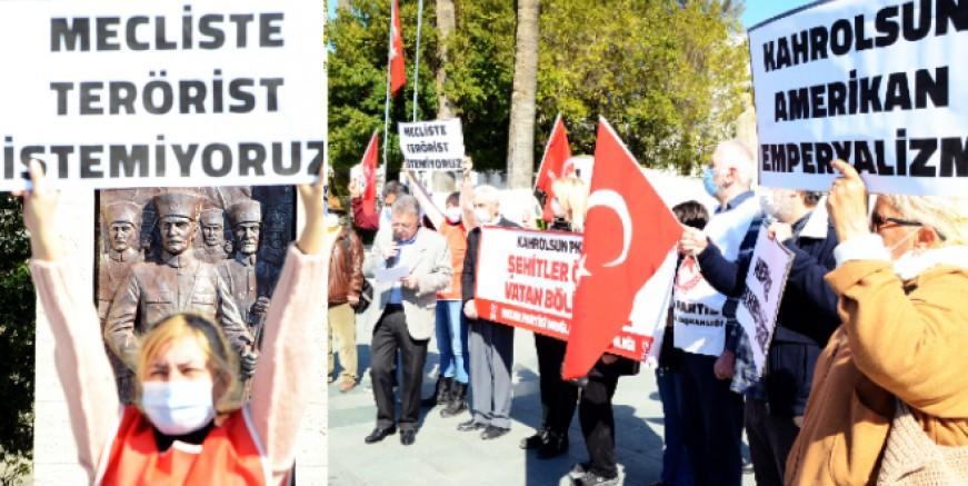 Bodrum'da PKK terörüne lanet yağdı, HDP 'nin kapatılması istendi