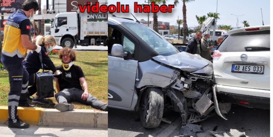 Bodrum'da trafik yoğunluğu nedeniyle kazalar üst üste geldi