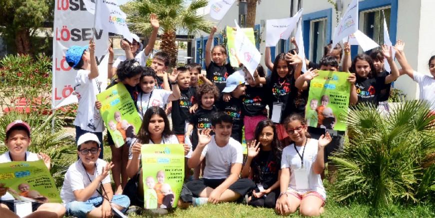 Bodrum LÖSEV Tatil Köyü'nde çocuklar çok mutlu