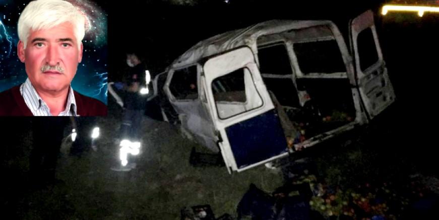 Bodrum Milas yolunda kaza 1 ölü 1 yaralı