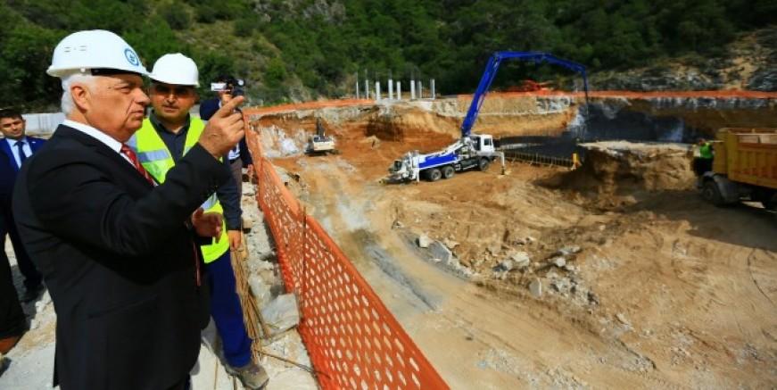 """Bodrum Turgutreis İleri Biyolojik Atıksu Arıtma Tesisi"""" inşaatının yüzde 60'ı tamamlandı"""