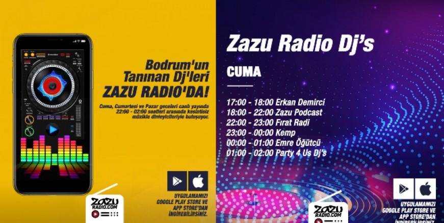 Bodrum'un ünlü Dj'leri Zazu Radio'da müzikleri ile hayran bırakıyor