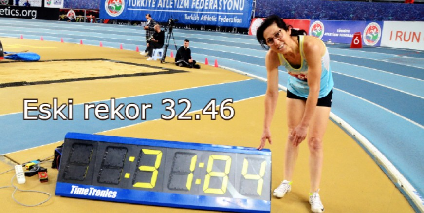 Bodrumlu Fatma Anter, 2 günde 2 Türkiye rekoru 3 birinciliğe koştu