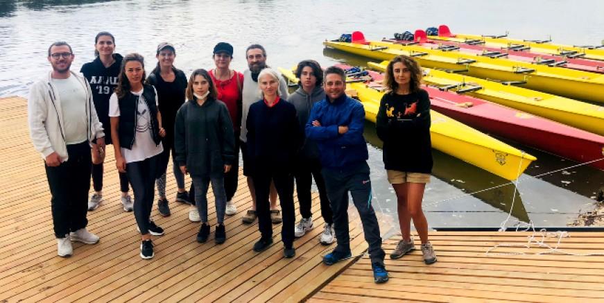 Bodrumlu kürekçiler Edirne Kürek Festivali'ne katıldı