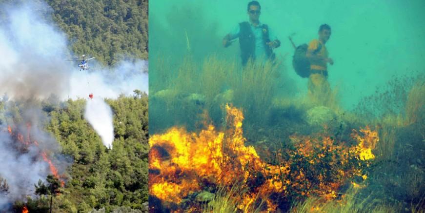 Çanakkale ormanları alev alev , boğaz kapatıldı köyler boşaltılıyor