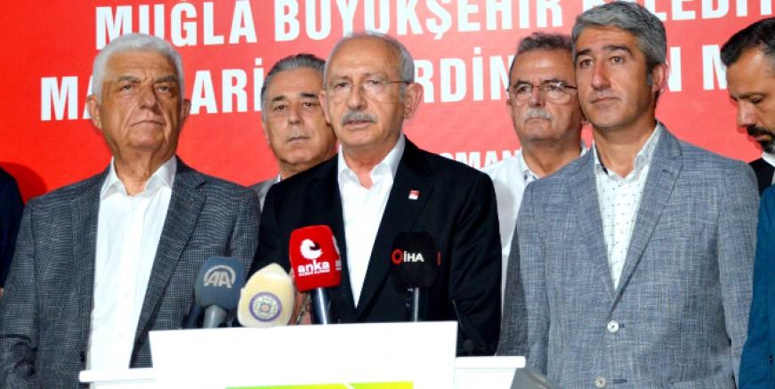 CHP Genelbaşkanı Kılıçdaroğlu Marmaris'te yangın bölgesini ziyaret etti