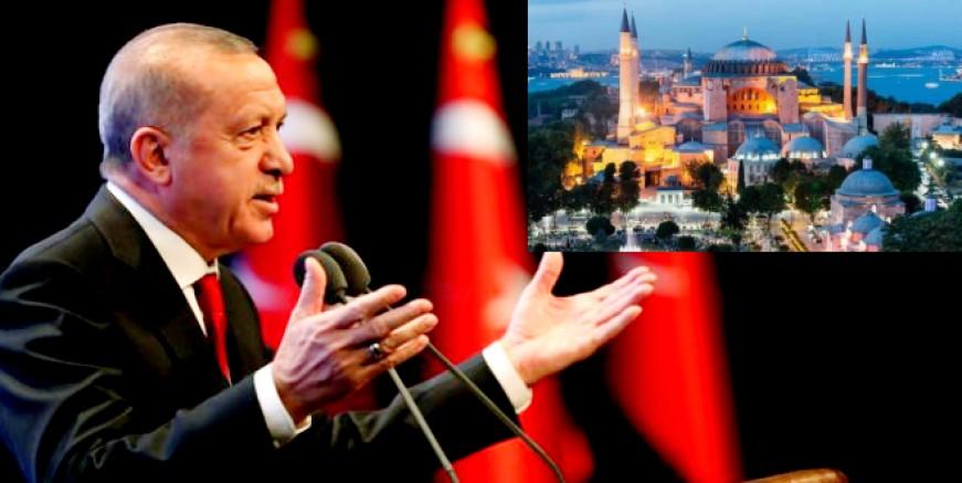 Cumhurbaşkanı Erdoğan Ayasofya'nın resmen ibadete açıldığını duyurdu