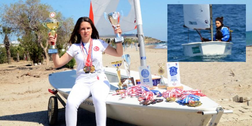 Denizde kupa madalya bırakmadı, hedefi olimpiyatlar ve pilot olmak