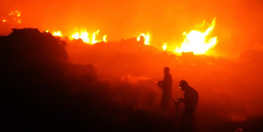 Dereköy'ü yaktılar, kundaklama sonucu 10 hektarlık alan kül oldu