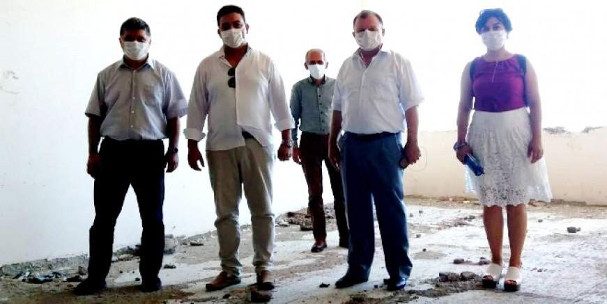 Devlet Hastanesi inşaatı öncesinde incelemeler yapıldı