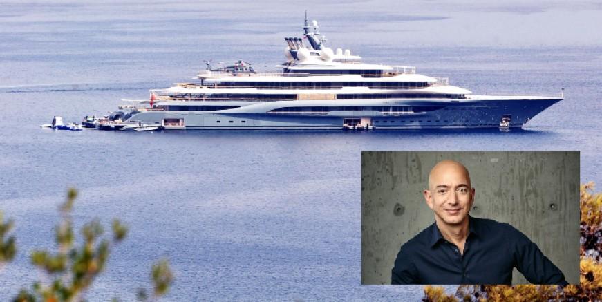 Dünyanın en zengin iş adamı Jeff Bezos'un mega yatı Bodrum'da