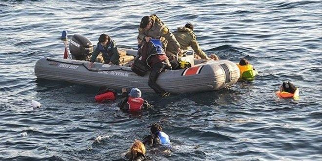 Ege'de bot faciası :  35 göçmen kurtarıldı 4'ü aranıyor