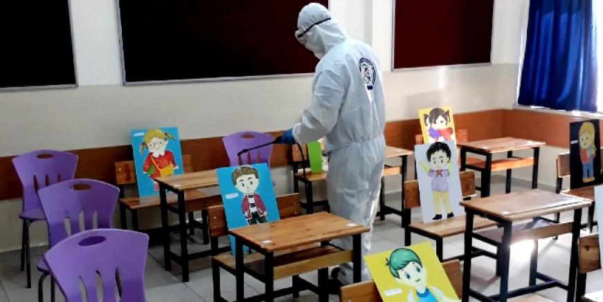 Eğitim için okullardaki dezenfekte işlemleri tamamlandı