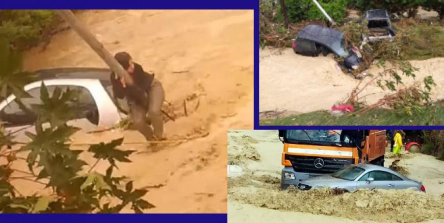 Girit'te son yılların en büyük sel felaketini yaşadılar