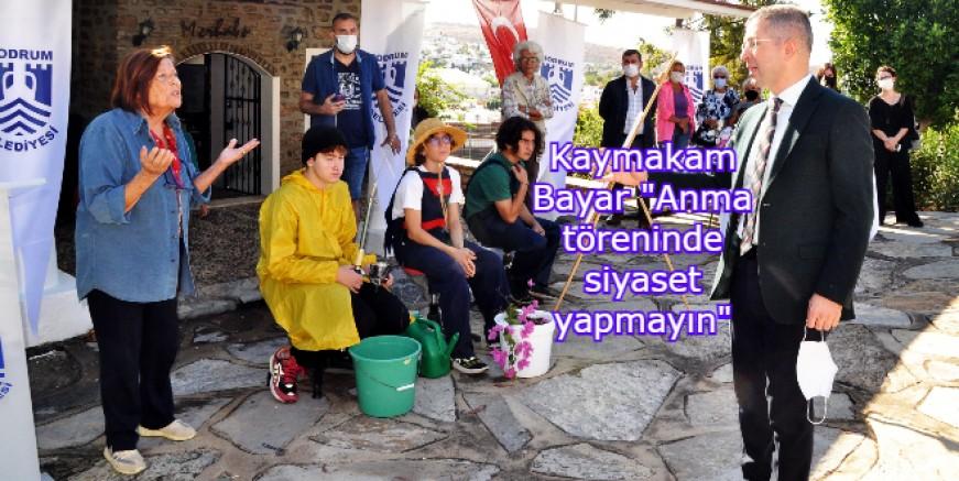 Halikarnas Balıkçısı Anma Töreni'nde Kaymakam Bayar'dan öğretmen Yücel'e sert tepki