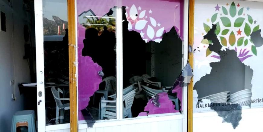 HDP ilçe binasına saldırı! Şüpheli gözaltına alındı