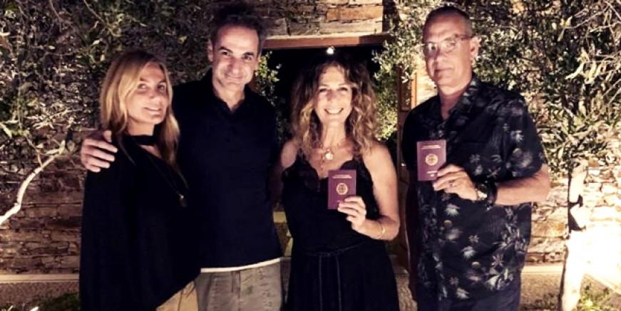 Holywood yıldızı Tom Hanks eşi ile birlikte Yunanistan vatandaşı oldu