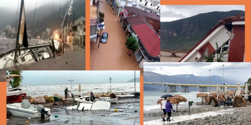 İanos Kasırgası Yunanistan'ı felaket vurdu, ölen ve kaybolanlar var