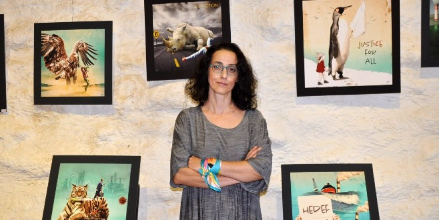 İklim aktivisti açtığı sergiyle küresel ısınmaya dikkat çekti