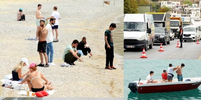 Kapanma gününde deniz ve balık avlama keyfi yaptılar, akın akın geldiler