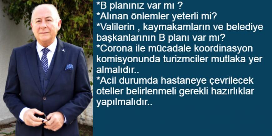 """Karcılıoğlu  """"Bodrum Kaymakamlığı ve Belediye ' nin B planı var mı?"""