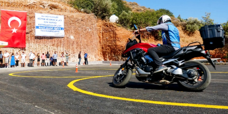 Motosiklet Eğitim ve Sınav Alanı Konacık'ta hizmete girdi