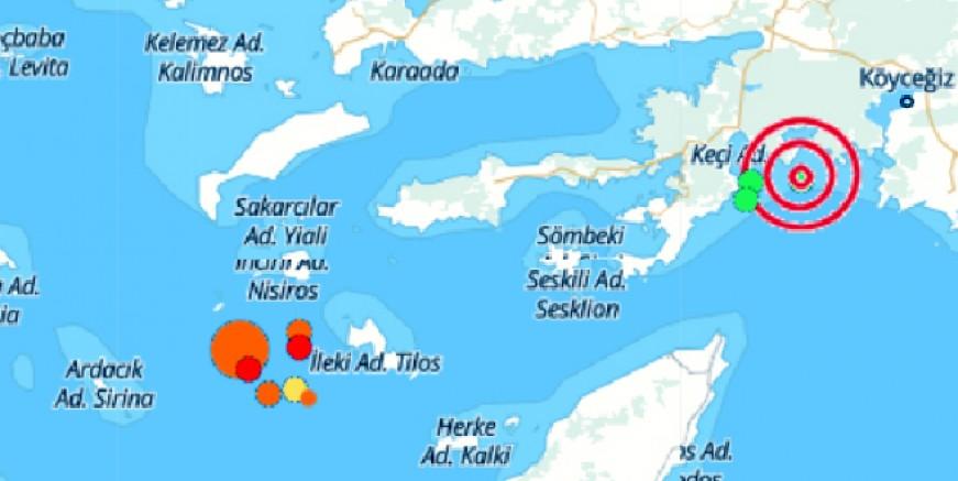 Muğla açıklarında 4.6 deprem, Bodrum'da hissedildi