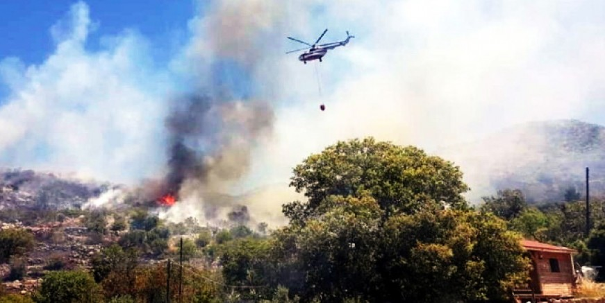 Muğla alev alev,  bu kezde  tarım arazileri  yanıyor