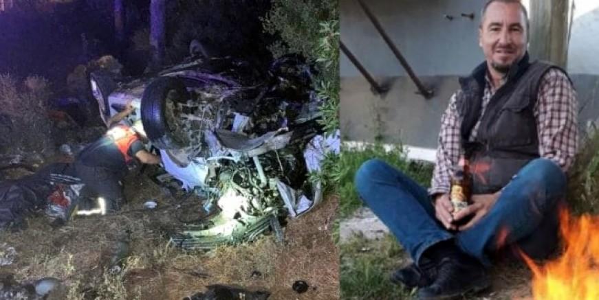 Muğla'da feci kaza takla atan otomobilin içinde yaşamını yitirdi