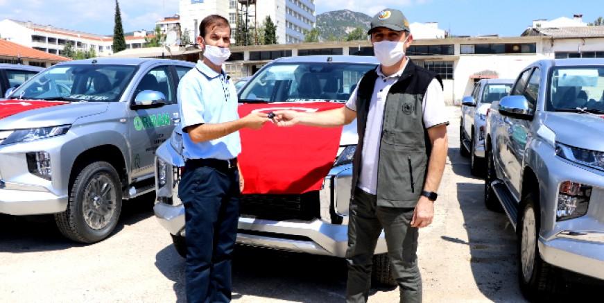 Muğla Orman Bölge Müdürlüğü' ne yangınlarla mücadelede araç desteği