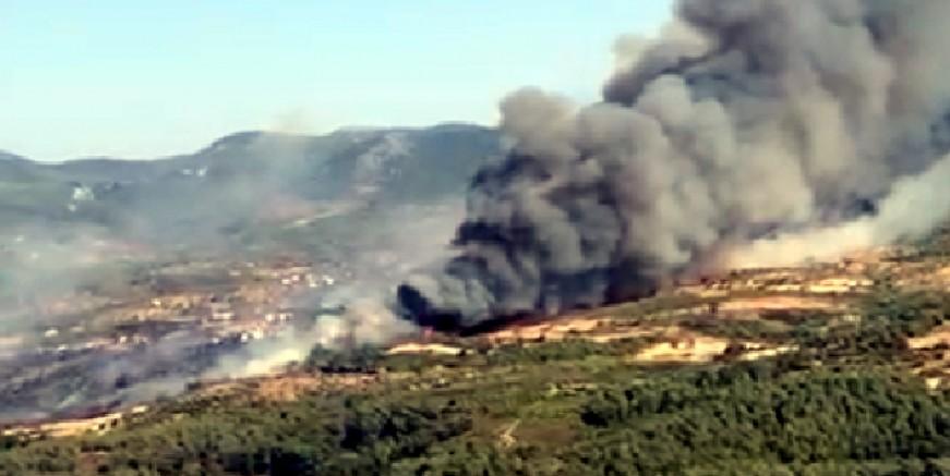 Mumcular yakınlarında orman yangını başladı