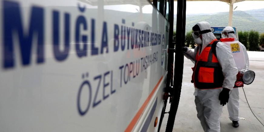 ÖZEL TOPLU TAŞIMA ARAÇLARI DEZENFEKTE EDİLDİ