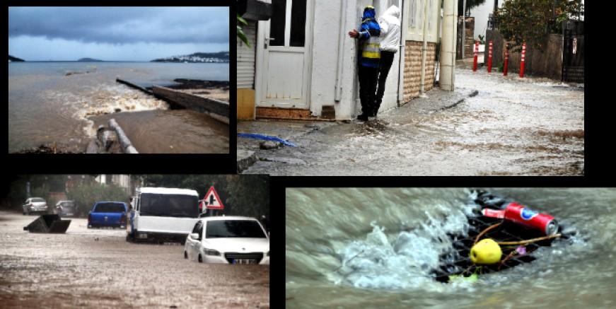 Sağanak yağışta Bodrum' un değişmeyen kaderi