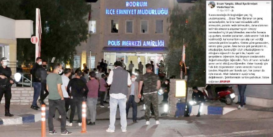 Şehit polis memuru dualarla son yolculuğuna uğurlandı, ilk görev yerindeki paylaşım yürekleri dağladı