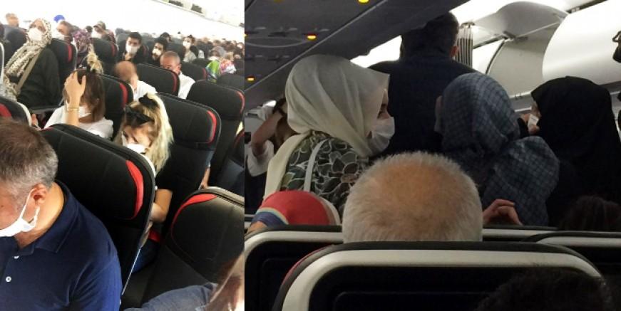 Sosyal mesafesiz uçuş. Az önce yaşandı, Ayser Özbulut yazdı...