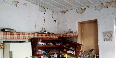 Girit güne 4.8 depremle uyandı onlarca evde hasar meydana geldi